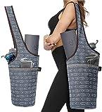 Ewedoos Yoga Mat Bag with Large Size Pocket and Zipper Pocket, Fit Most Size Mats (Artistic Gray)
