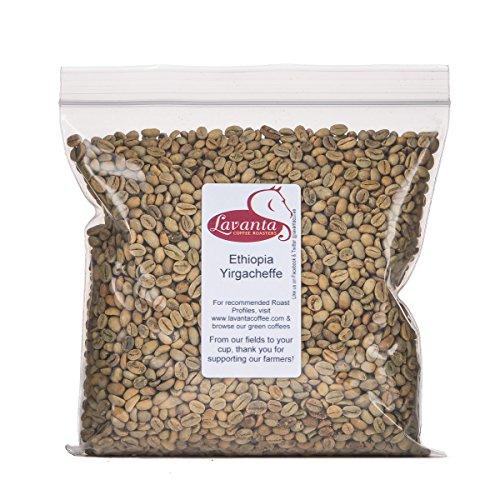 Lavanta Coffee Roasters Ethiopia Yirgacheffe Green Coffee, 2lb