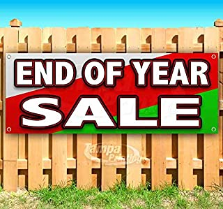 End of Year Sale 13 oz Heavy Duty Vinyl Banner Sign with Metal Grommets, New, Store, Advertising, Flag, (Many Sizes Available)