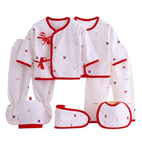 Pingtr Pijama Bebe Recien Nacido Conjunto de Ropa de Dormir de Conjunto de Pijama y Ropa Interior recién Nacida de Dibujos Animados de 7 Piezas niñas Niños (Blue, 59)