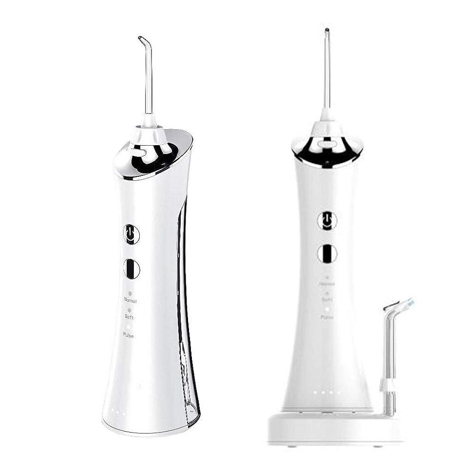 イタリアの期間警戒歯のための水フロッサー、手動携帯用空気圧の口頭潅漑器IPX7を防水する150ML水漕、歯科Flosserの空気圧の洗剤