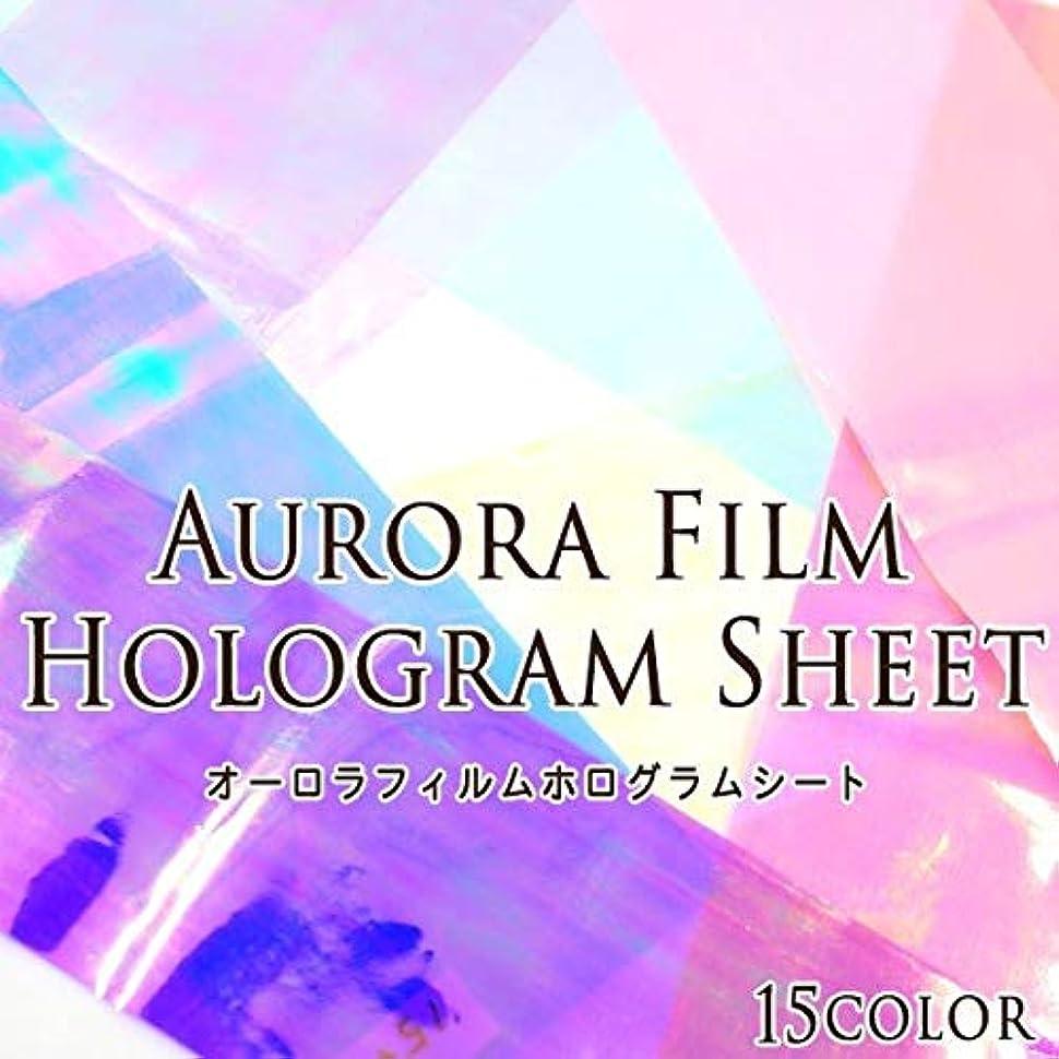 羽ブルーベル完璧なオーロラフィルム ホログラムシート 1枚入 (10.パープル 16#)