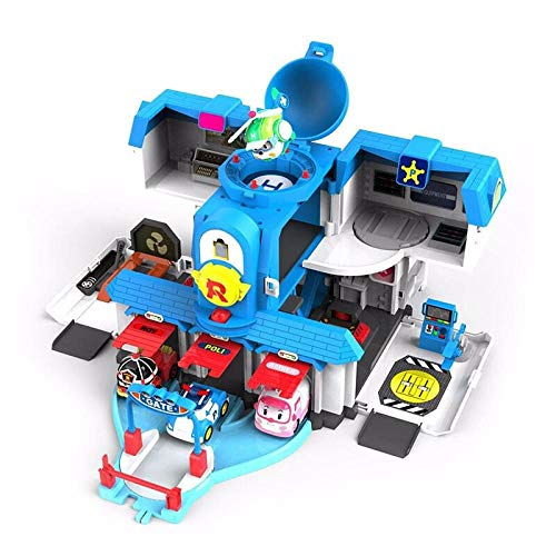 Toy Deformation Police Car Anime Peripheral Car Robot Toy Car-Rescue Team Suit