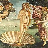 CasaJame Set di 40 (2 Confezioni da 20 Pezzi cad) Tovaglioli in Carta Monouso 3 Strati Veli 33x33cm Multicolore Motivo La Nascita di Venere (Botticelli)