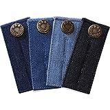 ZEFFFKA Botón Extensor de Cintura de Denim para Jeans y Faldas Cómodos Botones de Metal 4 piezas Colores Surtidos