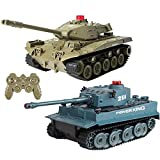 tyuiop Simulation RC Battle Tank, Programmable Military Model Kid's Toys with 2.4G Remote Control, Automatic Demo Function