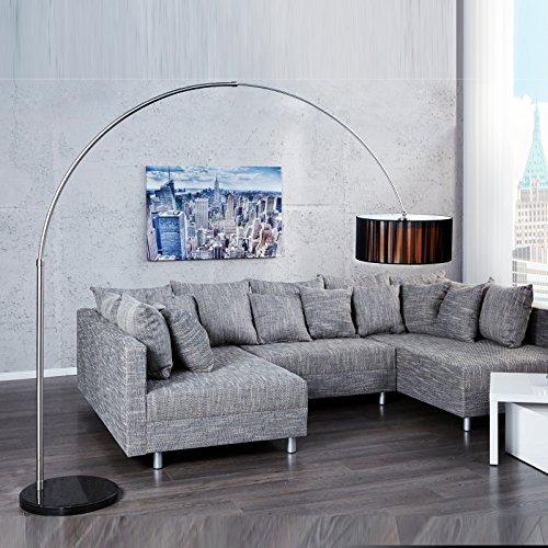 Design BOOGLAMP New York | 205 cm (H), zwarte | booglamp met nylon kap, vloerlamp