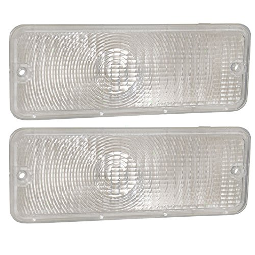 Pair of Park Signal Front Marker Lights Lamps Clear Lenses Replacement for Ford Pickup Truck D5TZ13200A