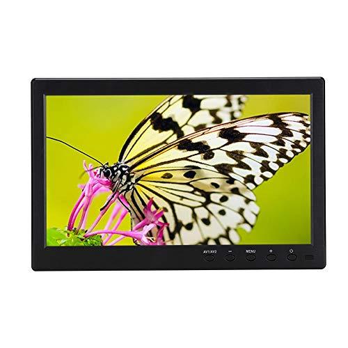 Tangxi 10,1-tums HD-1080P spelskärm, bredbild-TFT-LCD-skärm med basmontering stöd för HDMI/VGA/BNC/AV-ingång för PC/laptop (EU)