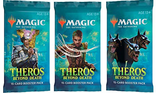 Magic The Gathering MTG 3 (Three) Booster Packs of Theros Beyond Death (3 Pack Booster Pack Draft Lot Bundle)