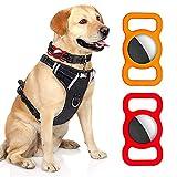 2 PCS Pet Silicone Airtag Schutzhülle für Airtag GPS Finder H& Katzenhalsband Schlaufe, Einstellbare Anti-Lost Locator Airtags Haustier-Hülle aus Silikon