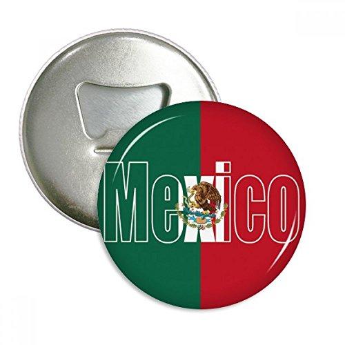 DIYthinker Mexico Land Vlag Naam Ronde Flesopener Koelkast Magneet Badge Knop 3 stks Gift Zilver