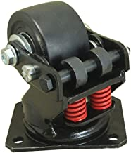 YQ CASTERS 3-Inch Pneumatic Spring-Loaded Gate Caster, Swivel Caster Wheels,Super Shock Absorber,880 lb Load Capacity