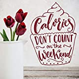 mlpnko Etiquetas de la Pared de Fin de Semana Gourmet sin Contar Pegatinas de Pegamento de Vinilo Pastel Postre decoración de panadería 50X67cm