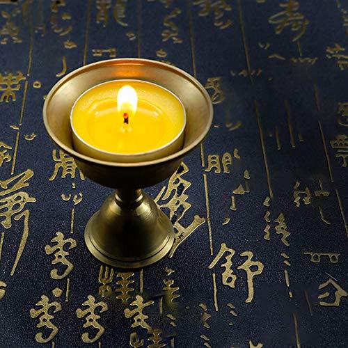 BeesClover Ghee Lampenhalter, verschiedene Größen, tibetisches Messing, Butter, Kupfer, Öllampenhalter Nr. Durchmesser: 14,8 cm, Höhe: 17,5 cm.