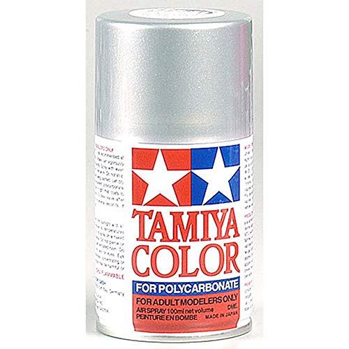 TAMIYA 300086041 86041 PS-41 Bombe de peinture en polycarbonate Argenté clair 100 ml