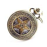 Reloj de bolsillo elegante clásico.Reloj de bolsillo - Reloj de bolsillo Pentagonal Pentagonal Magic Pentagonal Magic Industry Vintage para cumpleaños, festivales, regalos conmemorativos, relojes para