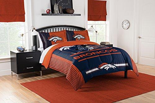 Officially Licensed NFL Denver Broncos 'Safety' King Comforter and 2 Sham Set, 102' x 86'