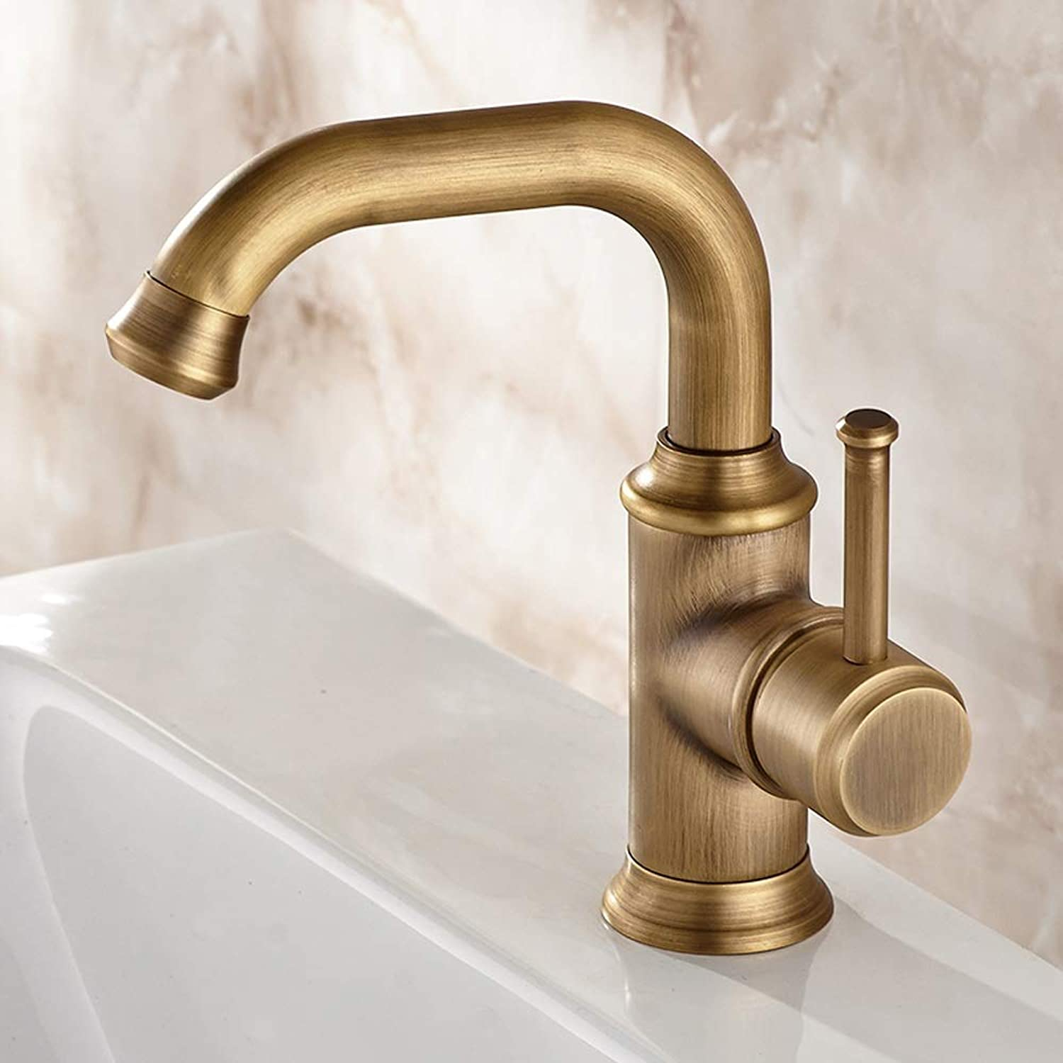 AXWT Antique color Basin Faucets All Bronze Mixed Water Faucet Plumbing High Quality Seated Thicken Material Taps Hotel Clubhouse Basin Water-tap