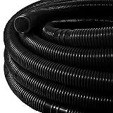 Whiie891203 Filtro inflable para piscina, 6,3 m, manguera de agua de 32 mm, para sistema de bomba de filtro, color negro