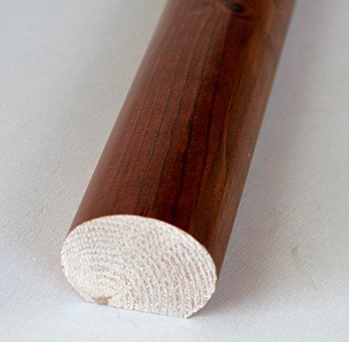 Hobby Legno - Corrimano In Legno Massello Pino Tinto Miele mm. 55X40X3000 (Prezzo Per ml. 3)