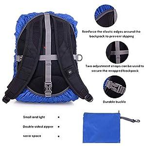 51I7Llou4UL. SS300  - Ulikey Funda Impermeable para Mochila, Cubierta de Bolsa Protector de Lluvia Funda de Mochila Anti Polvo con Tira Reflectante para Excursionismo, Camping, Viajar