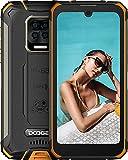 DOOGEE S59 Móvil, [2021] 10050mAh, Cámara Cuádruple 16MP+Cámara Frontal 16MP Smartphone, 4GB RAM+64GB ROM Movil Resistente, IP68 IP69K Antigolpes, Potente Altavoz 2 W, 4G, 5.71', NFC/GPS, Naranja