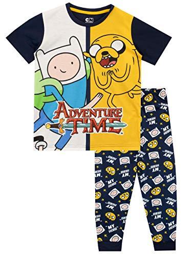 Adventure Time Pijamas de Manga Corta para niños Hora de Aventura Multicolor 10-11 Años