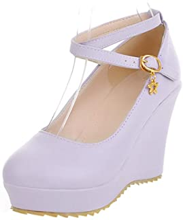 NonBrand BIGABIGA Women Sweet Wedge Heel Shoes Platform