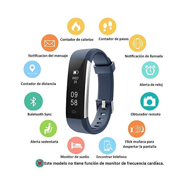 COOLEAD Pulsera Actividad Mujer Hombre Reloj Inteligente Podómetro Monitor de Actividad Impermeable IP67 Fitness Tracker… 4