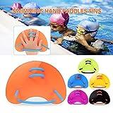 Explopur Paletas de Mano para natación Aletas de Entrenamiento de natación Ajustables para Adultos/niños
