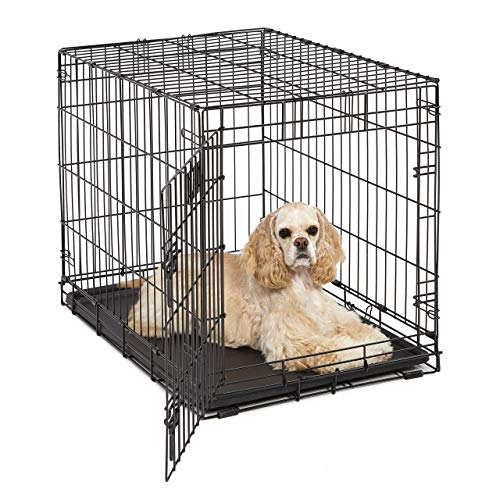 MidWest Homes for Pets Midwest Life Stages Zusammenklappbare Hundebox aus Metall mit Einer Tür, 76,2x53,34x60,96cm