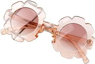Toddler Kids Eyeglasses Baby Children Vintage Flower Round Anti-UV Sunglasses 6 Colors Plastic Frame Beach Goggles