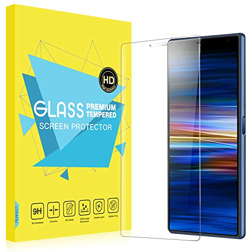 MoKo Compatible with Sony Xperia 10 Plus Screen Protector, [Scratch Resistant] 9H Hardness Ultra Clear Tempered Glass Film Fit Sony Xperia 10 Plus Screen Protector 6.5 inch 2019 - Clear