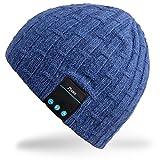 Rotibox lavable Bluetooth Beanie chapeau d'hiver chapeau court Skully avec casque...