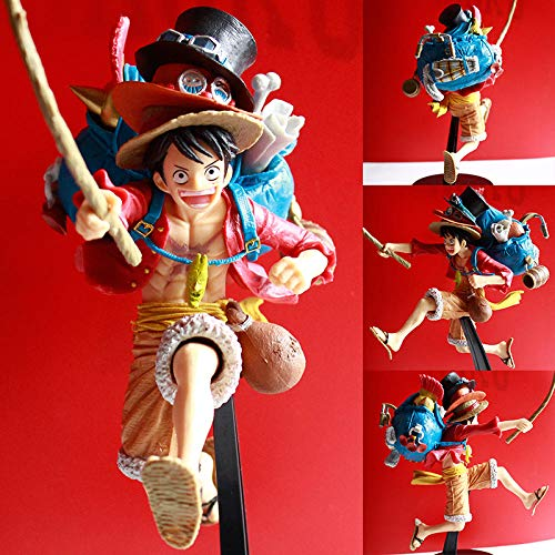 Pirate Nautical Photo Memories Hat Running Backpack Luffy Sabo Ace Boxed PVC Hand Office Aberdeen Model Handmade Good Quality Creative Design Worth Collecting Make People Happy Gift for Boyfriend