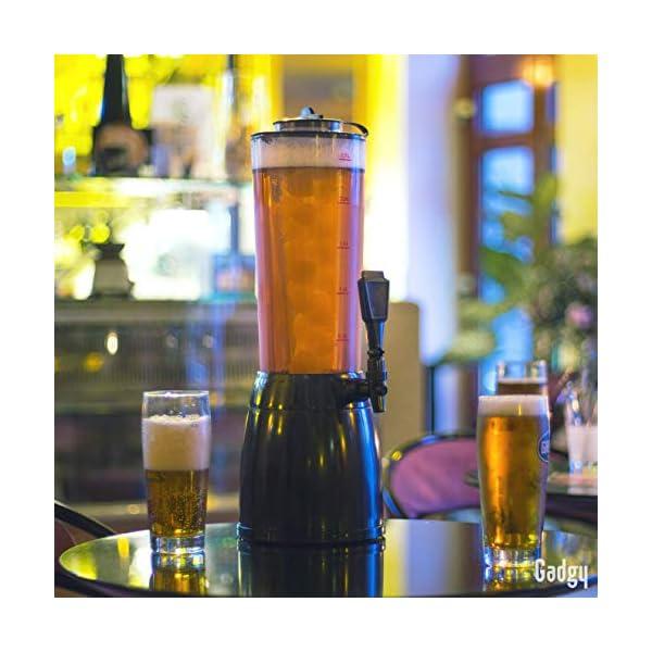 Gadgy ® Dispensador de Cerveza | 3,6 L. Bebidas Drink Dispenser | Compartimiento
