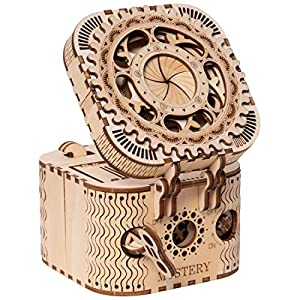 ROKR Puzzle Box 3D Wooden Puzzle Model Kits Birthday Gift for Adults and Teens by Rokr