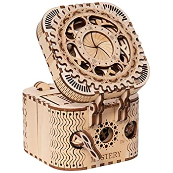 ROKR 3D Wooden Puzzle Password Box Model Kits for Adults and Teens to Build Birthday Gift