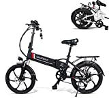 ASTOK 20'' Electric Bike Folding Mountain Ebike 350W Electric Bicycle, 35KM/H Commuting Bike with 48V 10.4Ah...