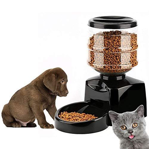 Alimentador automático para mascotas para perros gatos, alimentador automático, alimentador eléctrico para mascotas, contenedor de comida seca para perros, dispensador de comida seca para gatos