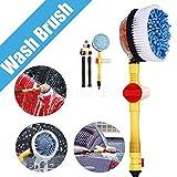 Maso, spazzole rotanti per la pulizia delle ruote, ad acqua, per auto, moto e cerchioni...