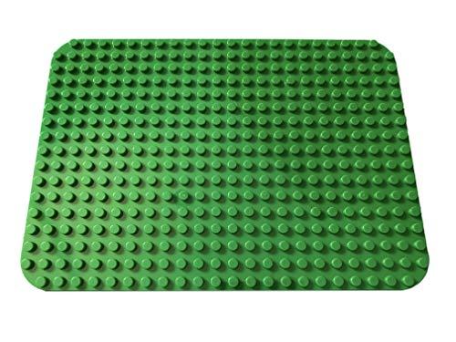 Apostrophe Games Piastre di Base di Grandi Blocchi Compatibili con Tutte Le Principali Marche (1x Verde)