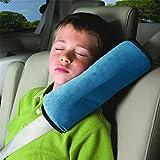 HENGSONG Schlafkissen Nackenstütze für Kinder Auto Baby Kind Sicherheitsgurt Autositz Kopfkissen Gürtel Pillow Schulterschutz (Blau)