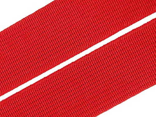 Gummiband 20 mm Gummizug Gummilitze Gummi Hosengummi gewebt viele Farben (20 Millimeter, 08 rot)