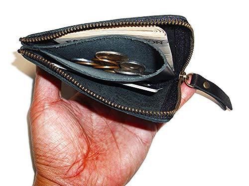 [革工房サトウ]本革L字ファスナー財布小銭入れコインケース人気メンズレディースレザー日本製YKKファスナー(レッド)