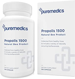 PUREMEDICS Bee Propolis Capsules - Natural Propolis Supplement with Naturally Occurring Bioflavonoids - 5:1 Extract - Phar...