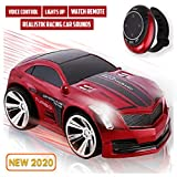 Smart Watch Remote Control Car for Boys, Rechargeable, Powerful Sounds & Smart Watch controller, Red RC Car for Kids, Girls toys, Electric Voice Commend Car, Race Car Toys, Kid Toys