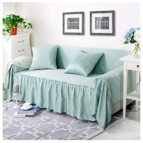 GELing Home Funda de sofá de Doble Cara, Cubre para Silla en Tejido Elástico Estampado, Funda de sofá Engrosada Protector de Sofá o Sillón ,Azul Oscuro,Una Plaza