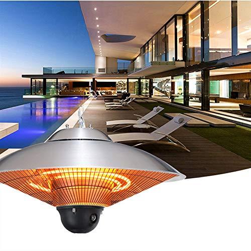 GT-LYD Electric Infrared Patio Heater, Hanging Heater, 3 Power Settings Quiet Heating Waterproof Umbrella Heater, Heat Lamp for Outdoor/Indoor